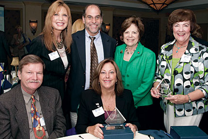 Back row: Judge Giselle Pollack, Mickey Rocque, Senator Nan Rich, Judge Marcia Beach. Front row: Gary Hilko, Judge Melanie May